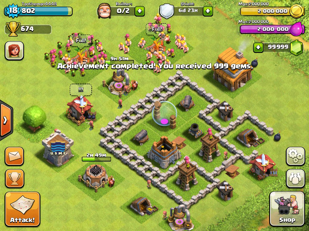how to play clash of clans offline android