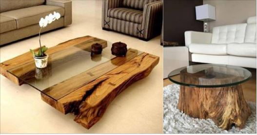 14 mod les de table basse en bois brut qui vous inspireront. Black Bedroom Furniture Sets. Home Design Ideas